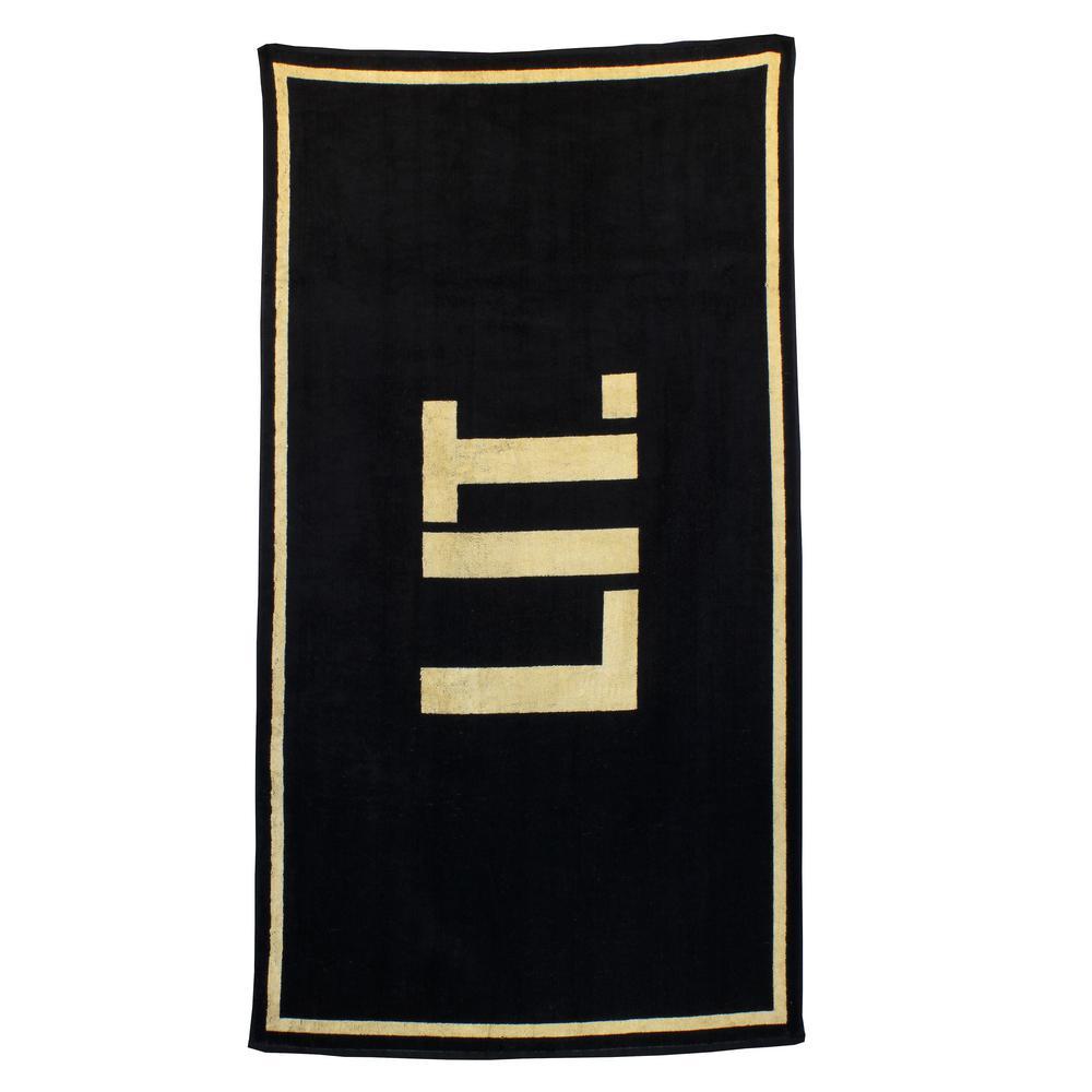 Yarn Dye Cotton Blend Jacquard Beach Towel - LIT
