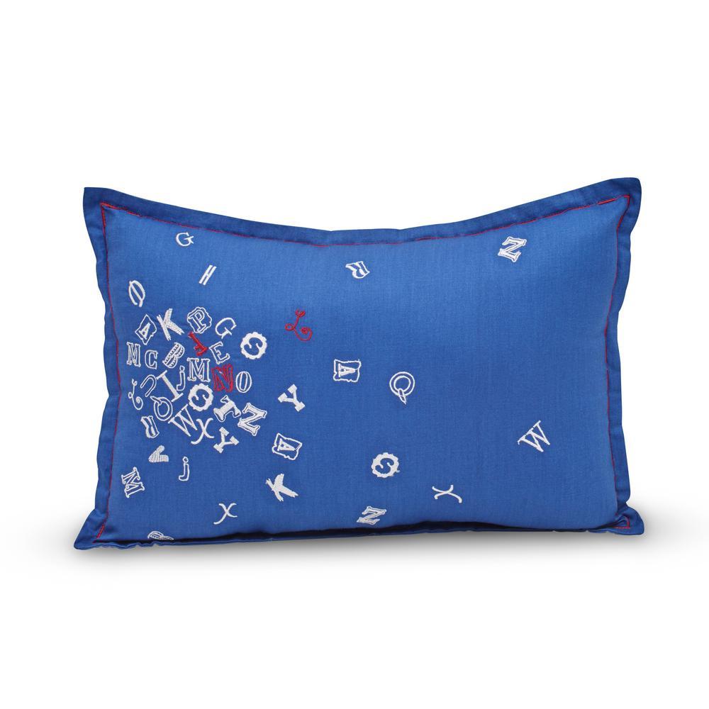 Callen 100% Cotton 12 in. x 18 in. Alphabet Pillow