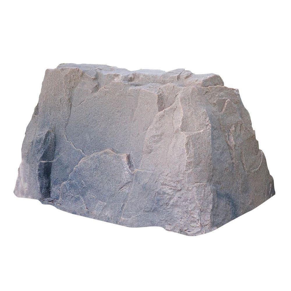 39 in. L x 21 in. W x 21 in. H Medium Plastic Rock Cover in Brown/Black