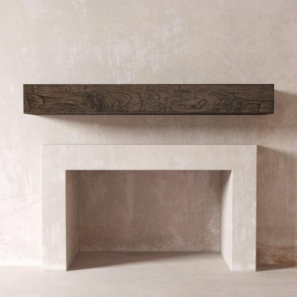 DESSIE 72 in. Fireplace Wall Cap-Shelf Mantel in Cafe Noire