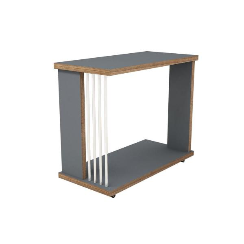 Ada Home Decor Salem Anthracite Modern Side Table MNRS3031