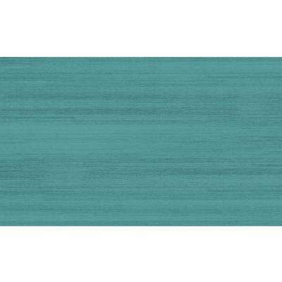 Washable Solid Textured Ocean Blue 3 ft. x 5 ft. Area Rug