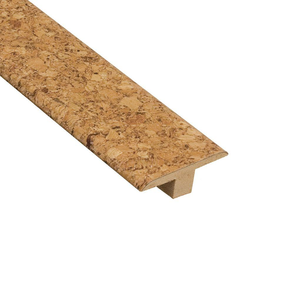Home Legend Natural 1/4 in. Thick x 1-3/4 in. Wide x 47 in. Length Cork T- Molding