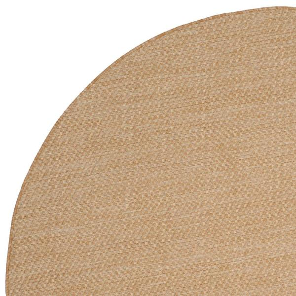 Safavieh Courtyard Natural Cream 5 Ft X 5 Ft Indoor Outdoor Round Area Rug Cy8521 03012 5r The Home Depot