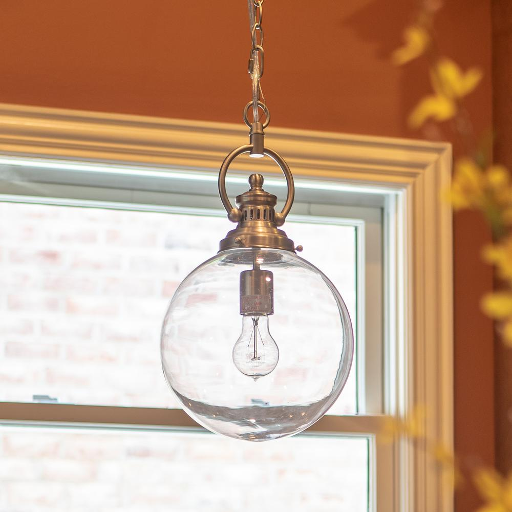 Decor Therapy Clifton 1-Light Brushed Nickel Pendant