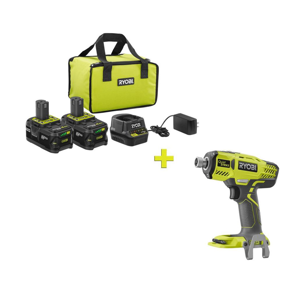 RYOBI 18-Volt ONE+ High Capacity 4.0 Ah Battery (2-Pack) Starter Kit with Charger and Bag with FREE ONE+ 1/4 Hex Pulse Driver was $301.0 now $99.0 (67.0% off)