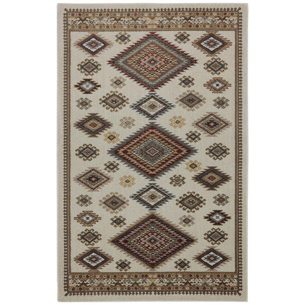 American Rug Craftsmen Teton Shell 3 ft. 6 in. x 5 ft. 6 in. Accent Rug