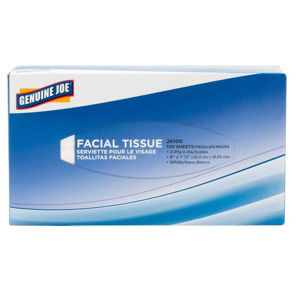 Facial Tissue 2-Ply (100-Count)