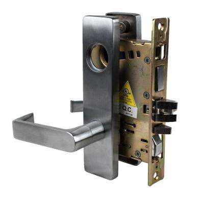 DXML Series Satin Chrome Entrance Sectional Mortise Lock Door Lever