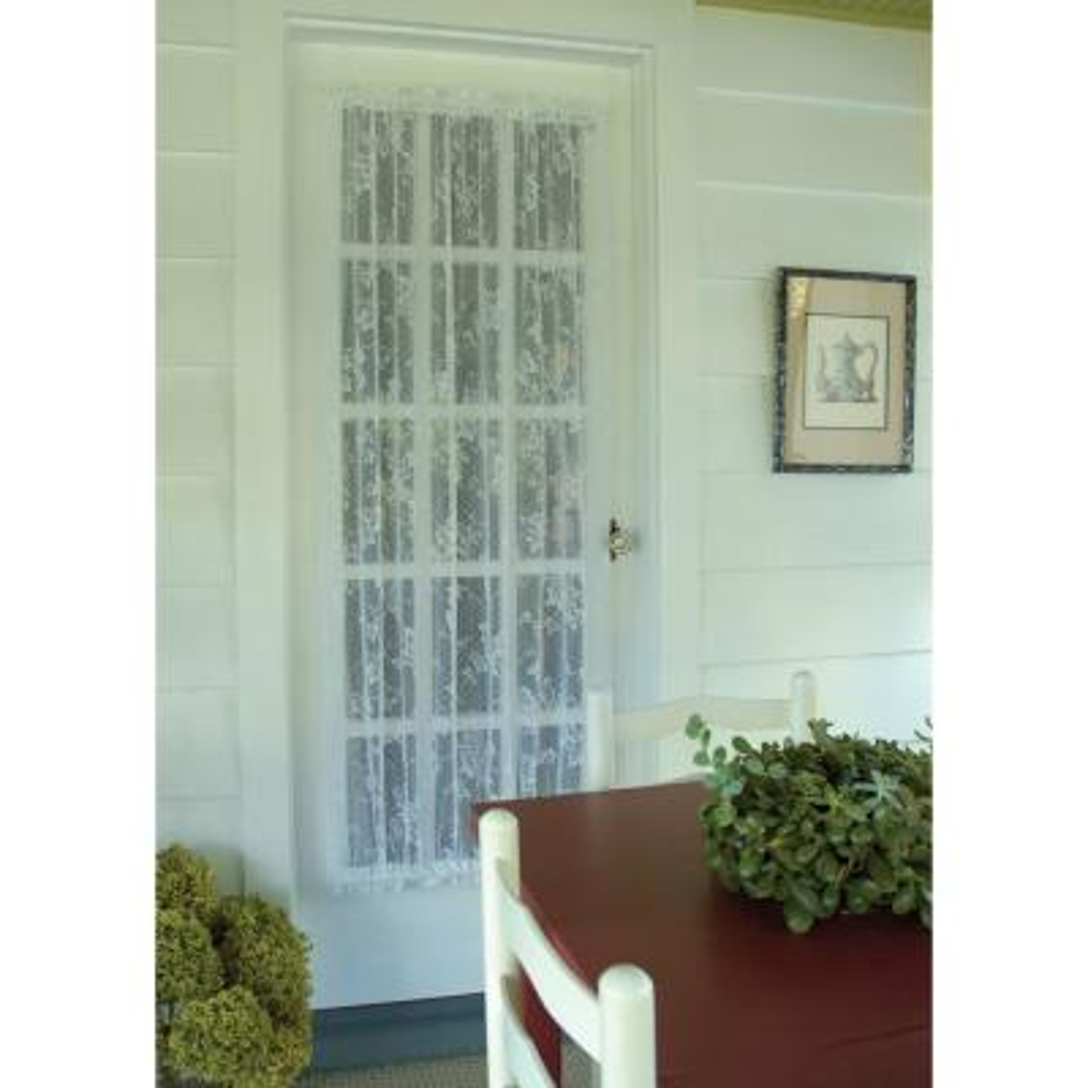 English Ivy White Lace Door Panel