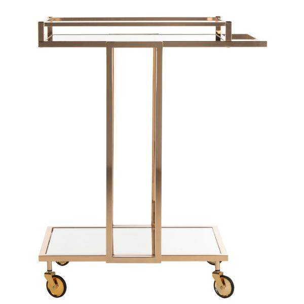 Safavieh Capri 2-Tier Gold Bar Cart BCT8003A