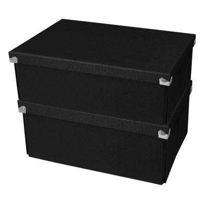 Pop n' Store Medium Square Box in Black (2-Pack)