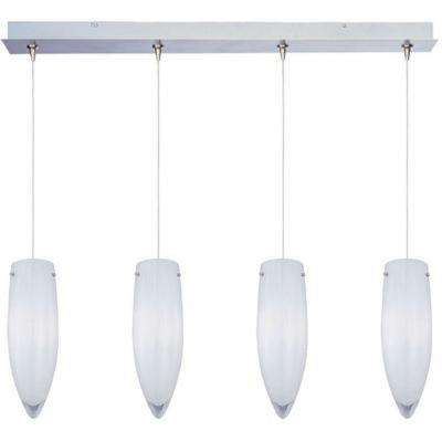 White Cirrus 4-Light RapidJack Pendant and Canopy