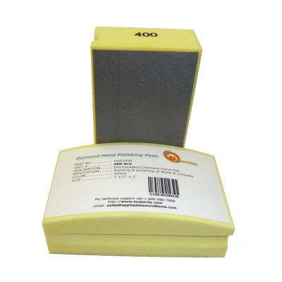 400-Grit Diamond Hand Polishing Pads Block Type