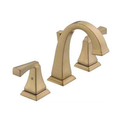 Dryden 8 in. Widespread 2-Handle Bathroom Faucet with Metal Drain Assembly in Champagne Bronze