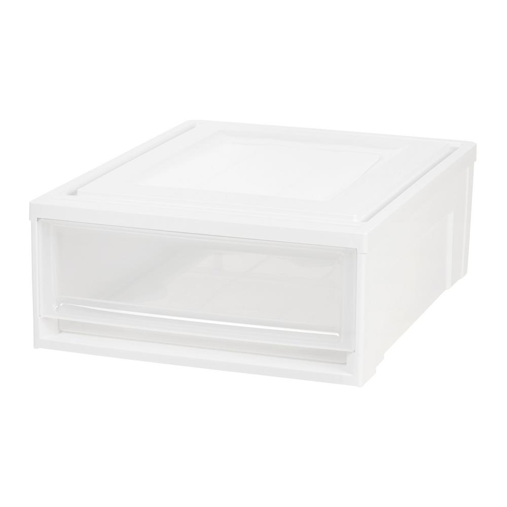 IRIS 15.75 in. x 7 in. White Shallow Plastic Drawer