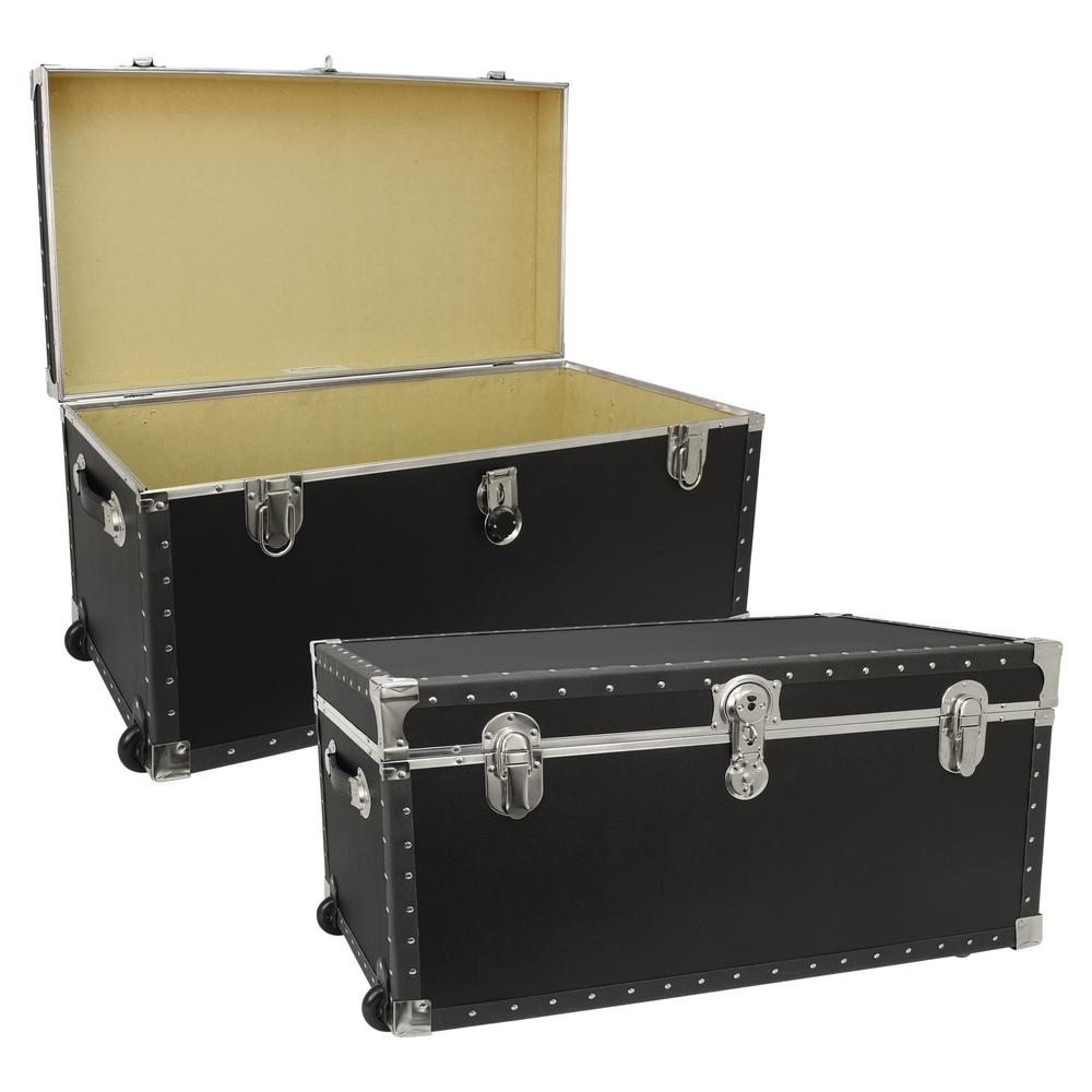 Wonderful Seward Trunk Trailblazer Black Storage Trunk