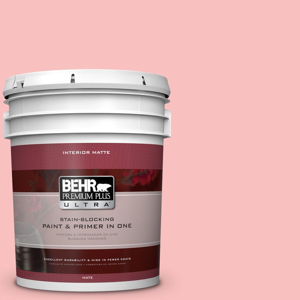 5 gal. #160A-3 Pink Hydrangea Flat/Matte Interior Paint