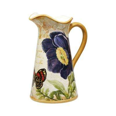 Poppy Garden 2.5 Qt. Multi-Colored Pitcher