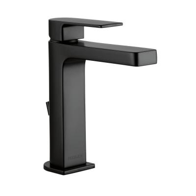 Xander Single Hole Single-Handle Bathroom Faucet with Hi-Arc Spout in Matte Black