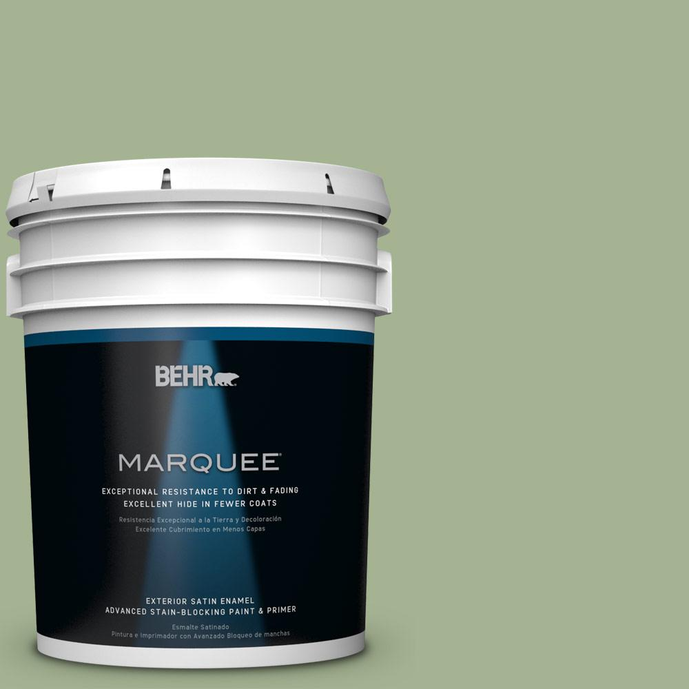 BEHR MARQUEE 5-gal. #PPU11-6 Willow Grove Satin Enamel Exterior Paint