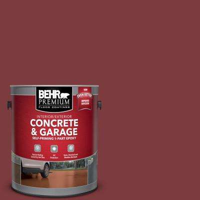 1 gal. #PFC-02 Brick Red Self-Priming 1-Part Epoxy Satin Interior/Exterior Concrete and Garage Floor Paint