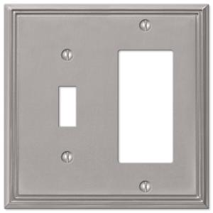 Amerelle  2 gang Aged Bronze  Stamped Steel  Toggle//Duplex  Wall Plate  1 pk