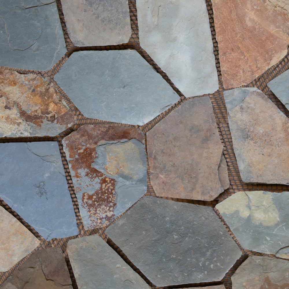 Msi Santa Barbara 2 75 Sq Ft Natural Slate Meshed Flagstone