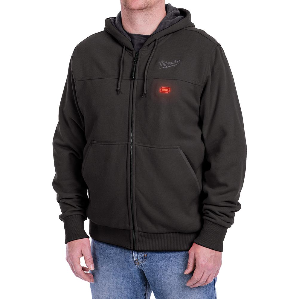Milwaukee Men's X-Large M12 12-Volt Lithium-Ion Cordless Black Heated Hoodie Kit with (1) 1.5Ah Battery and Charger
