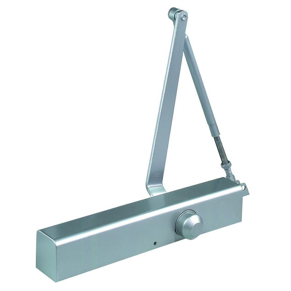 Commercial ADA Slim Line Door Closer with Delayed Action in Aluminum