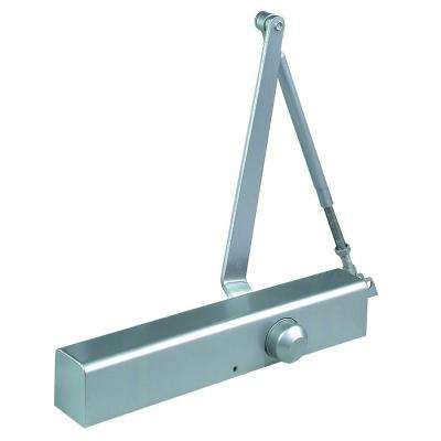 Commercial ADA Slim Line Door Closer with Delayed Action in Aluminum - Sizes 1-4