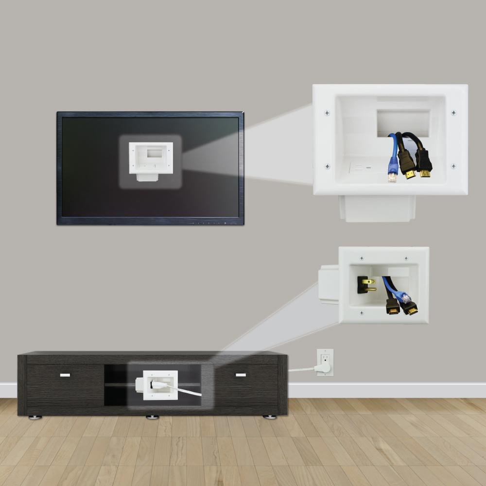 TV Cable Organizer Kit Flat Panel Wall Mount Home Theater