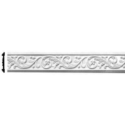 5 in. x 5/8 in. x 96 in. Leaf Scroll Polyurethane Frieze Panel Moulding