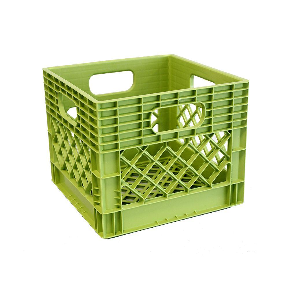 GSC Technologies 11 In. X 13 In. X 13 In. Storage Milk Crate