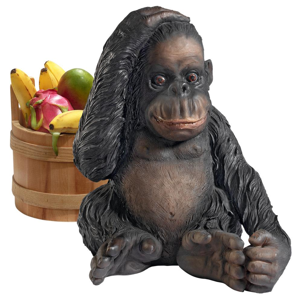 Design Toscano 14 In H Curly The Chimpanzee Of The Jungle