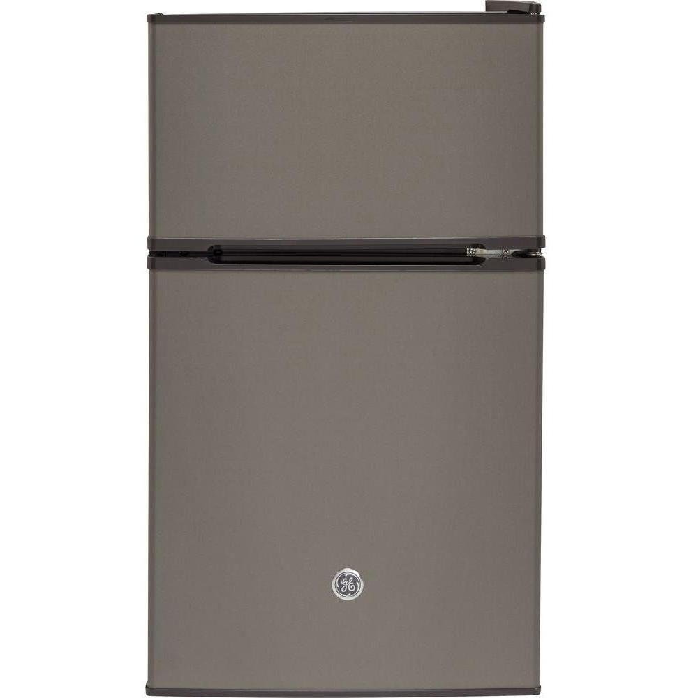 Design Ge Slate Refrigerator ge 3 1 cu ft double door mini refrigerator in slate gde03gmked slate
