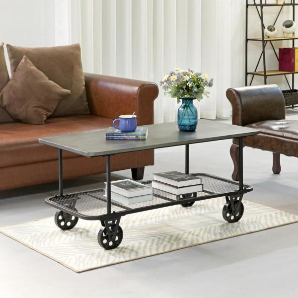 Winfield Industrial Cart Coffee Table - 44.5'' x 21.5'' x 20.5''