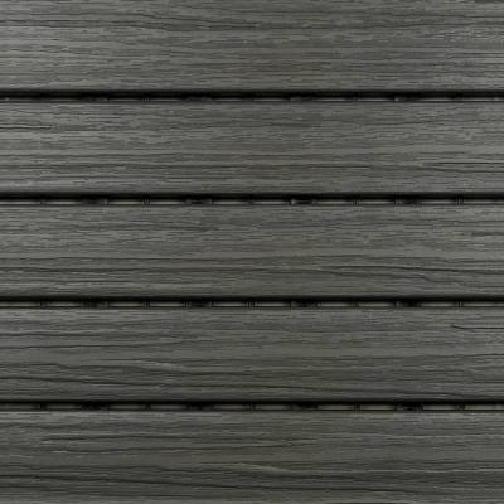 Bergo XL Tiles 1 24 ft  x 1 24 ft  PVC Deck Tiles in Cedar