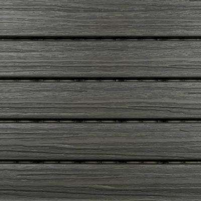 1 ft. x 1 ft. Premium Polymer Deck Tile in Driftwood Grey (6-Tile/Case)
