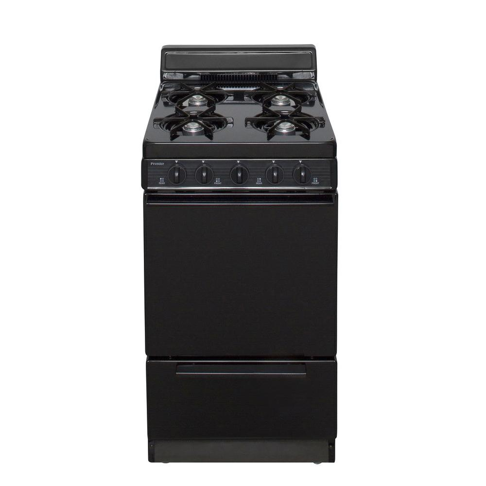 Premier 20 in. 2.42 cu. ft. Gas Range in Black