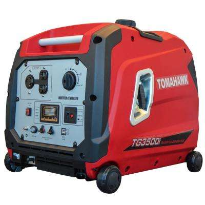 3500-Watt Gas Powered Recoil Start Inverter Generator with 7 HP Engine