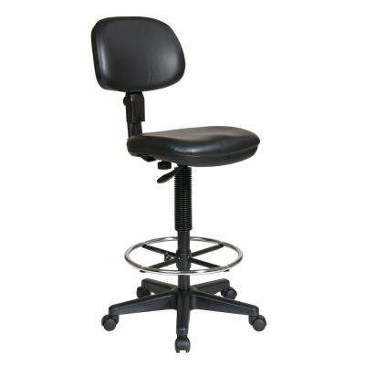 Black Vinyl Drafting Chair