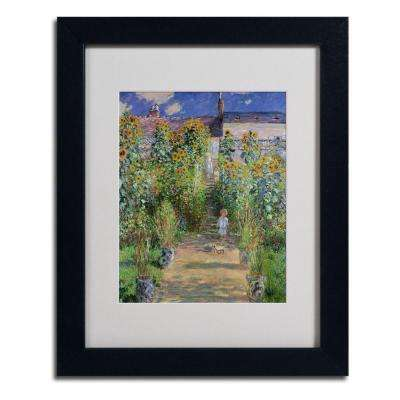 11 in. x 14 in. The Artist's Garden at Vetheuil Matted Black Framed Wall Art
