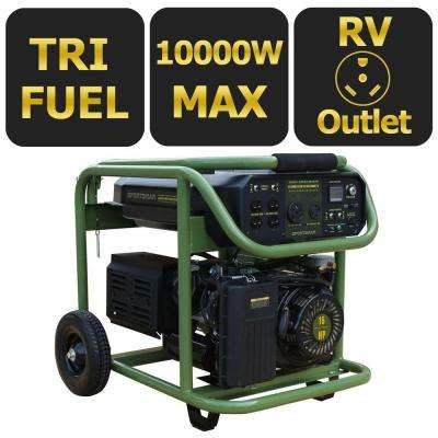 8500-Watt Tri-Fuel Powered Electric Start Portable Generator with 50 State Compliant