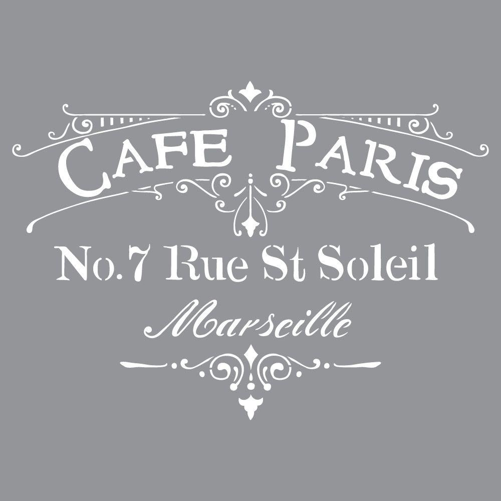 DecoArt Americana Decor Cafe Paris Stencil