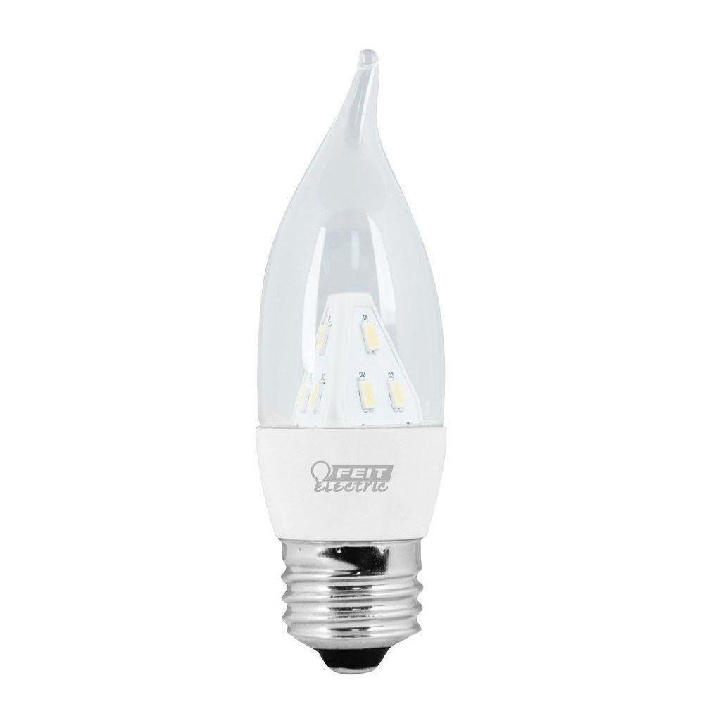 Feit Electric 25W Equivalent Soft White (3000K) CA Clear Standard Base LED Light Bulb (12-Pack)