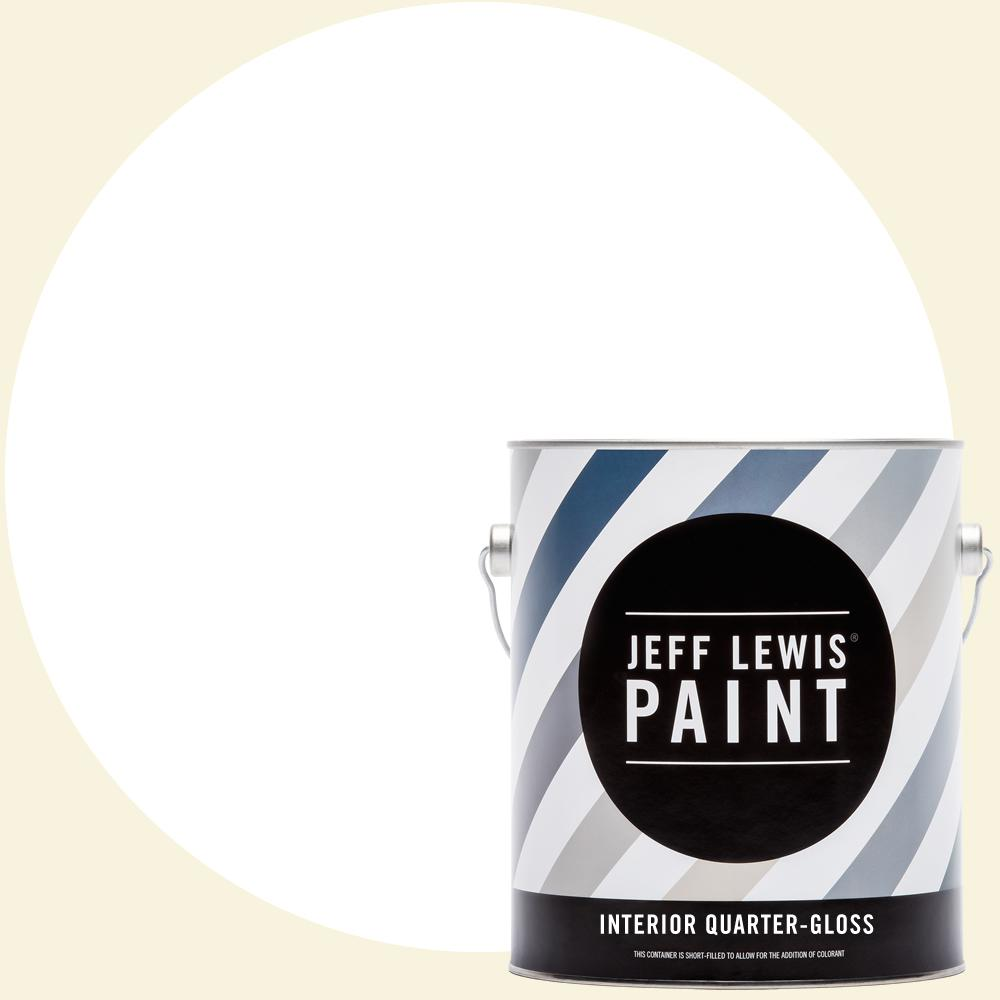 Jeff Lewis 1 gal. #610 White Collar Quarter-Gloss Interior Paint