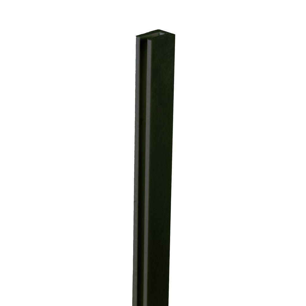8 ft. Black Vinyl Lattice Cap
