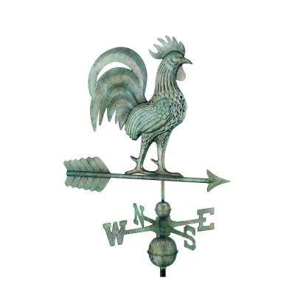 Proud Rooster Weathervane - Blue Verde Copper