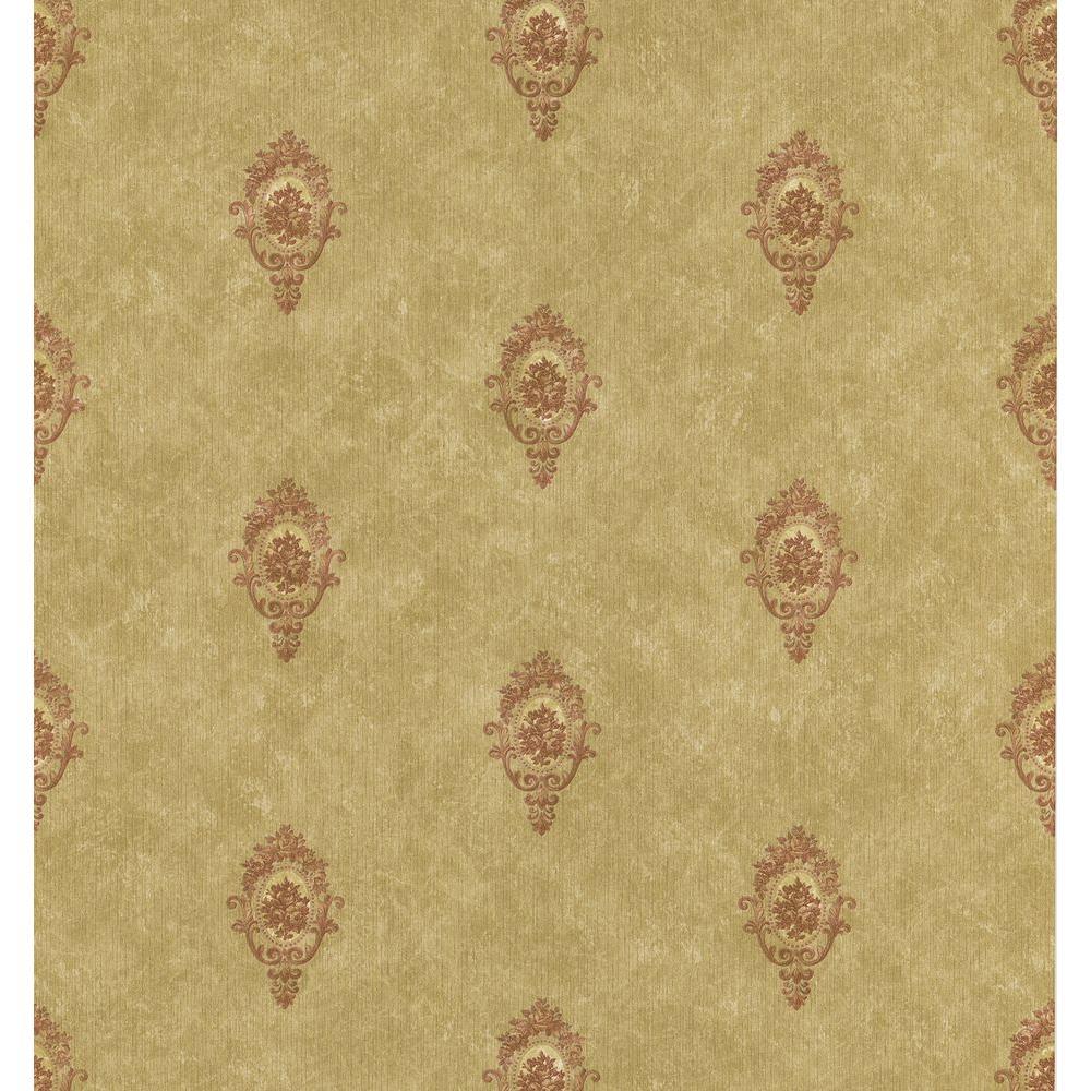 Brewster 56 sq. ft. Cameo Motif Wallpaper